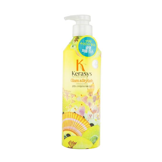 Dầu xả nước hoa Kerasys Glam& stylish (xạ hương, mẫu đơn) 600ml