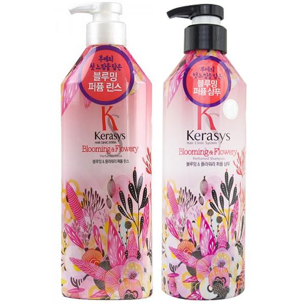 Dầu xả nước hoa Kerasys Blooming&Flowery (tuyết tùng, linh lan) 600ml