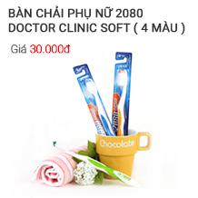 Bàn chải 2080 Dr Clinic (siêu mềm cho phụ nữ)