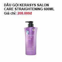 Dầu gội Kerasys Salon care Straightening (dành cho tóc thẳng) 600 ml