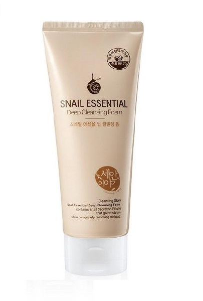 Sữa rửa mặt Welcos Snail Essence Deep Cleansing Foam (Tinh chất ốc sên)