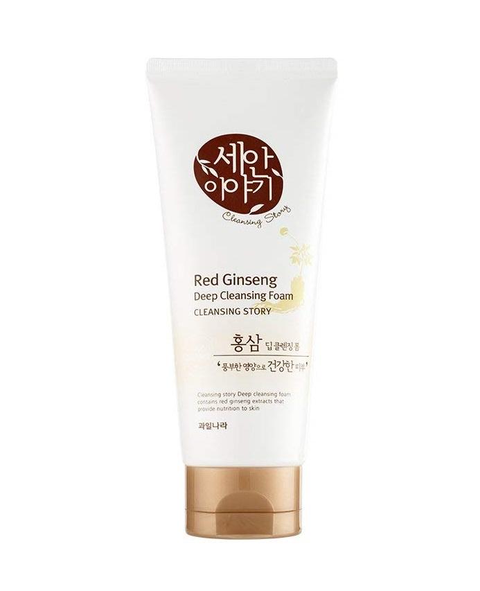 Sữa rửa mặt Welcos Red Ginseng Deep Cleansing Foam (Tinh chất nhân sâm)
